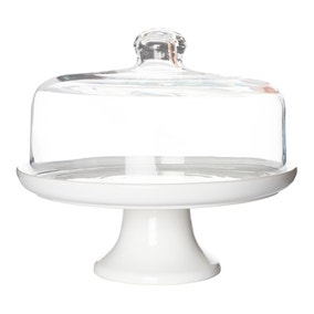 Hotel Canterbury Cake Stand With Dome Lid