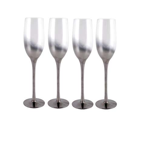 Set of 4 Hotel Ombre Champagne Flutes