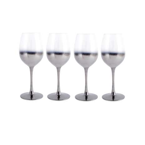 4 Pack Ombre White Wine Glass