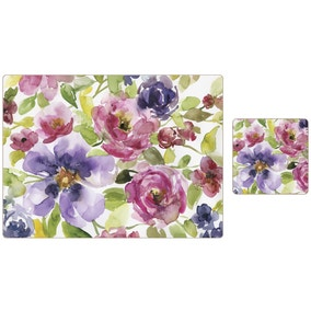 Set of 4 Meadow Placemats and Coasters