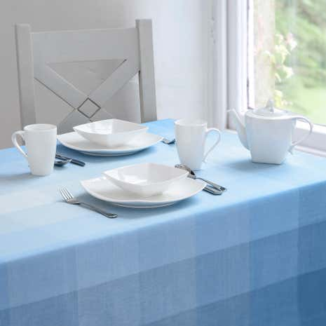 Duck-Egg Ombre Check Tablecloth