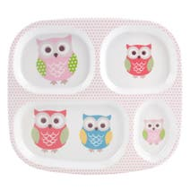 Pretty Owls Melamine Tray