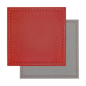4 Pack Reverse Coasters Red and Grey