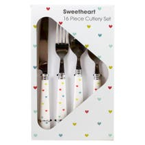Sweethearts 16 Piece Cutlery Set