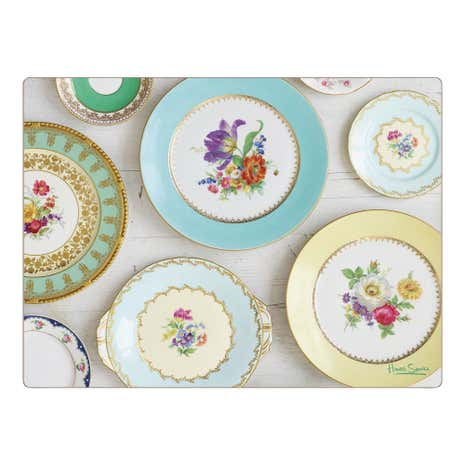 Set of Four Vintage Plates Placemats