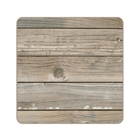 Set of Four Vintage Wood Coasters