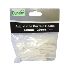 Pack of 20 Adjustable Curtain Hooks