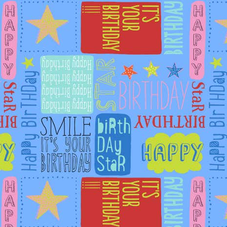 Birthday Fabric