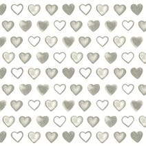 Charcoal Country Hearts Fabric