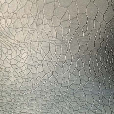 Silver Crocco Footprint PVC Fabric