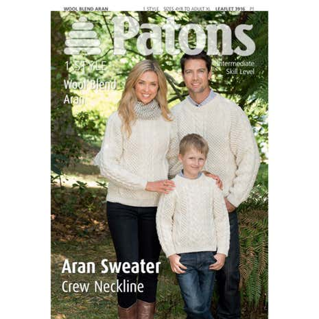 Patons Family Aran Sweater Knitting Book 3916