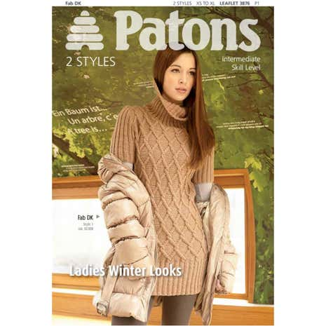 Patons Ladies Winter Looks Knitting Book 3876