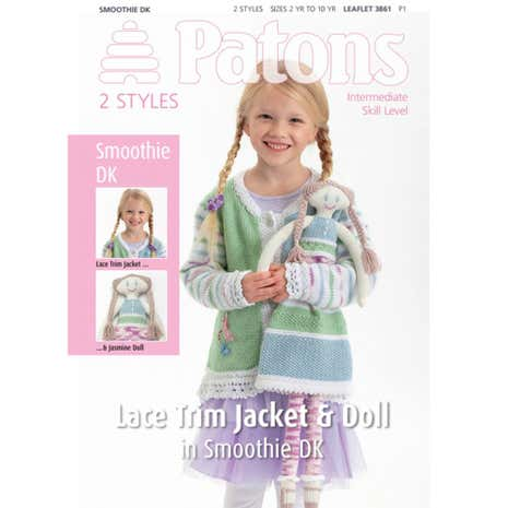 Patons Smoothie DK Girls and Doll Knitting Book 3861