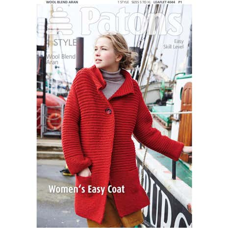 Patons Women's Easy Coat Knitting Book