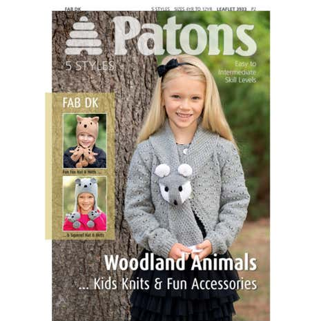 Patons Woodland Animal Knits for Kids Knitting Book