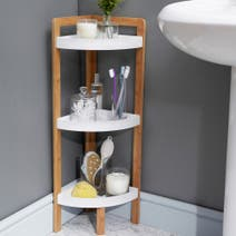 Elements Bamboo 3-Tier Corner Caddy