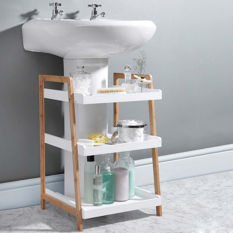 Bathroom storage under sink - Under Sink Storage Bathroom Good Ideas A1houstoncom