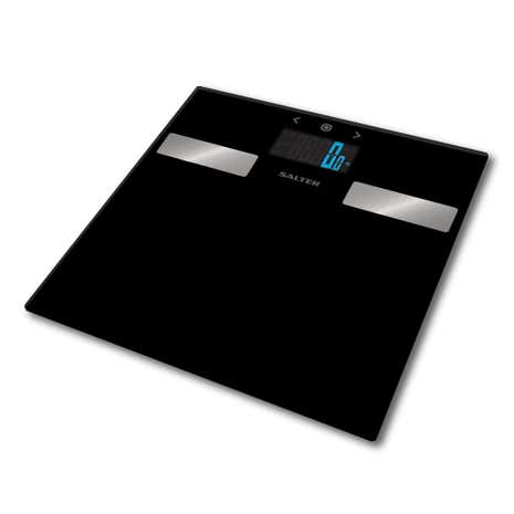 Salter Black Glass Analyser Bathroom Scales