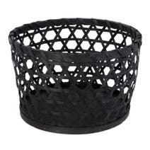 Black Global Fusion Wooden Basket