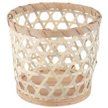 Natural Global Fusion Wooden Basket