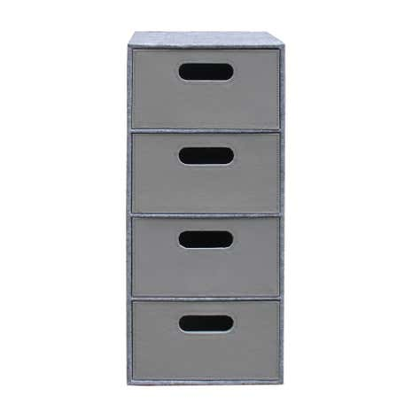 Grey Two Tone 4 Drawer Tower
