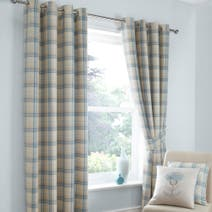 Balmoral Duck-Egg Blackout Eyelet Curtains