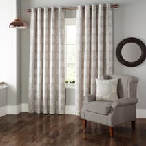 Casablanca Linen Lined Eyelet Curtains