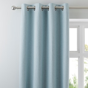 Hayden Duck-Egg Lined Eyelet Curtains