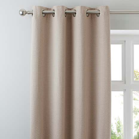 Kendall Natural Lined Eyelet Curtains