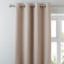 Natural Kendall Lined Eyelet Curtains
