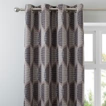 Metropolitan Black Lined Eyelet Curtains
