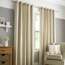 Paignton Striped Mauve Lined Eyelet Curtains