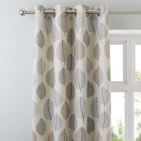 Regan Pebble Lined Eyelet Curtains