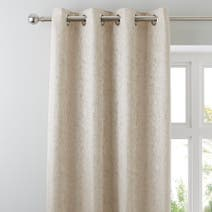 Champagne Richmond Lined Eyelet Curtains