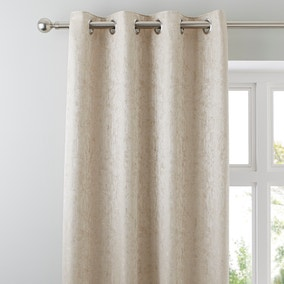 Richmond Champagne Lined Eyelet Curtains