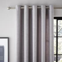 Grey Vermont Lined Eyelet Curtains