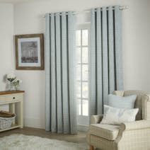 Duck Egg Arabella Eyelet Curtains