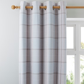 Dorma Sherbourne Duck Egg Lined Eyelet Curtains