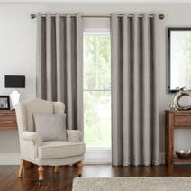 Hotel Silver Naples Lined Eyelet Curtains