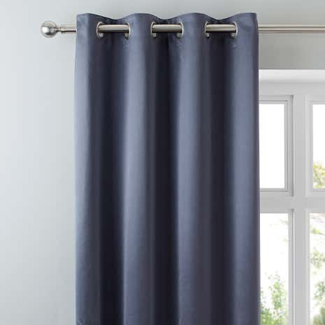 5A Fifth Avenue Venice Grey Blackout Eyelet Curtains