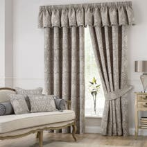 Kensington Silver Lined Pencil Pleat Curtains