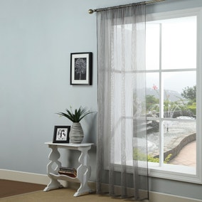 Addison Charcoal Voile Panel