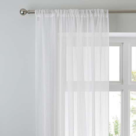 Aspen White Sheer Slot Top Voile Panel