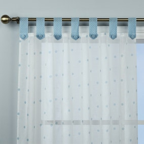 Country Duck-Egg Dotty Voile Panel