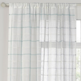 Kalle Duck Egg Sheer Panel