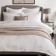 Hotel White Parsley 300 Thread Count Duvet Cover