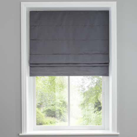 Hotel Venice Graphite Grey Blackout Roman Blind