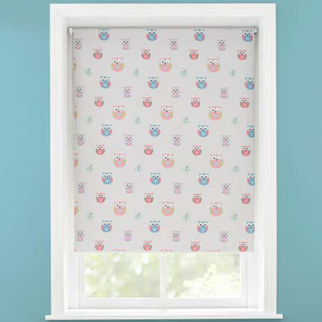 Kids Pretty Owls Blackout Cordless Roller Blind