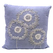 Natural Dandelion Embroidered Cushion