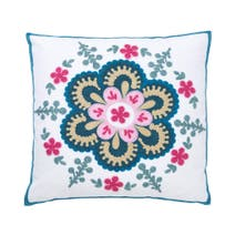 Floral Crewel Cushion